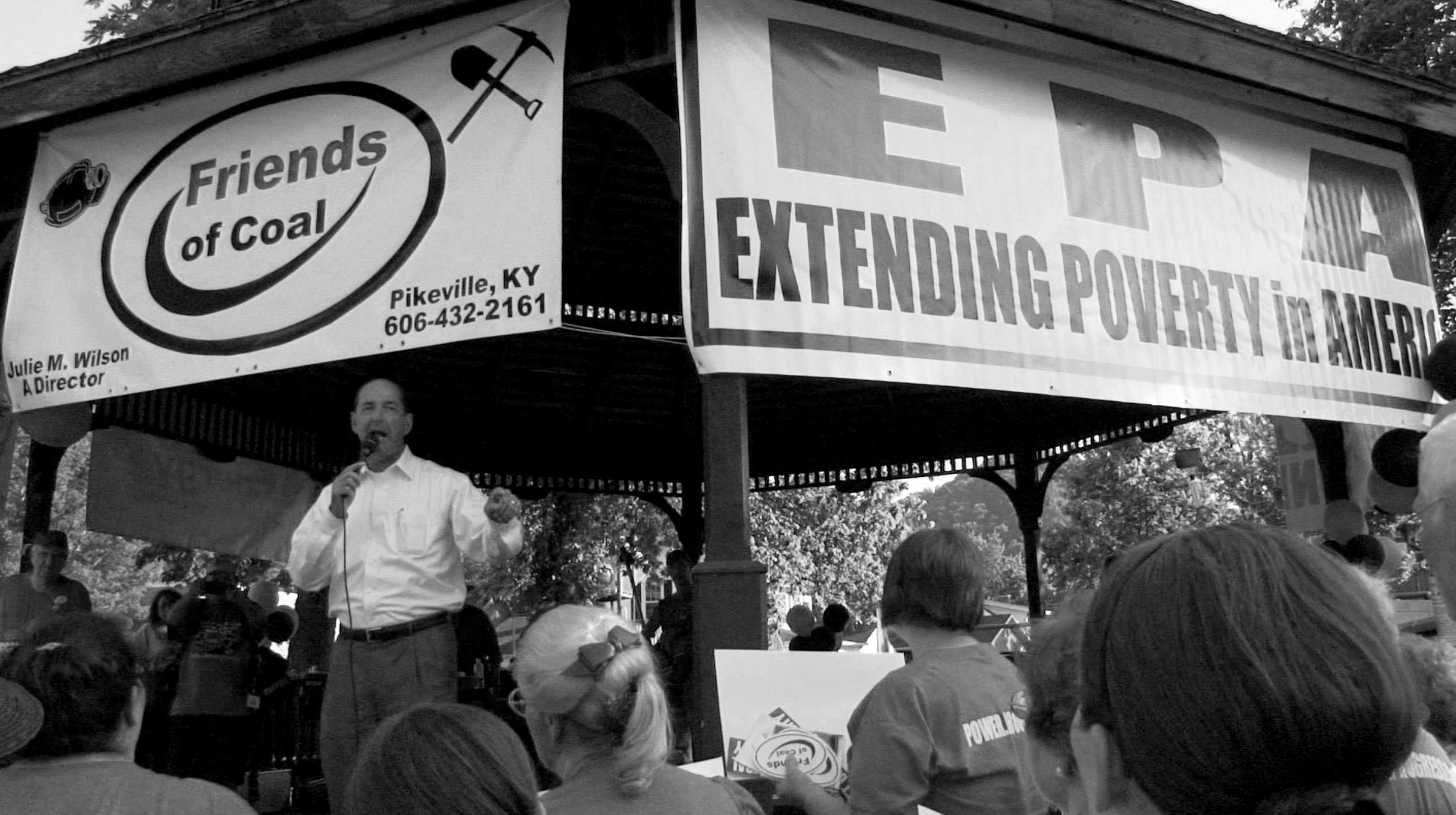 Figure 1. Rocky Adkins, then Democratic House majority leader for the Kentucky House of Representatives, speaking at a pro- coal rally in 2012