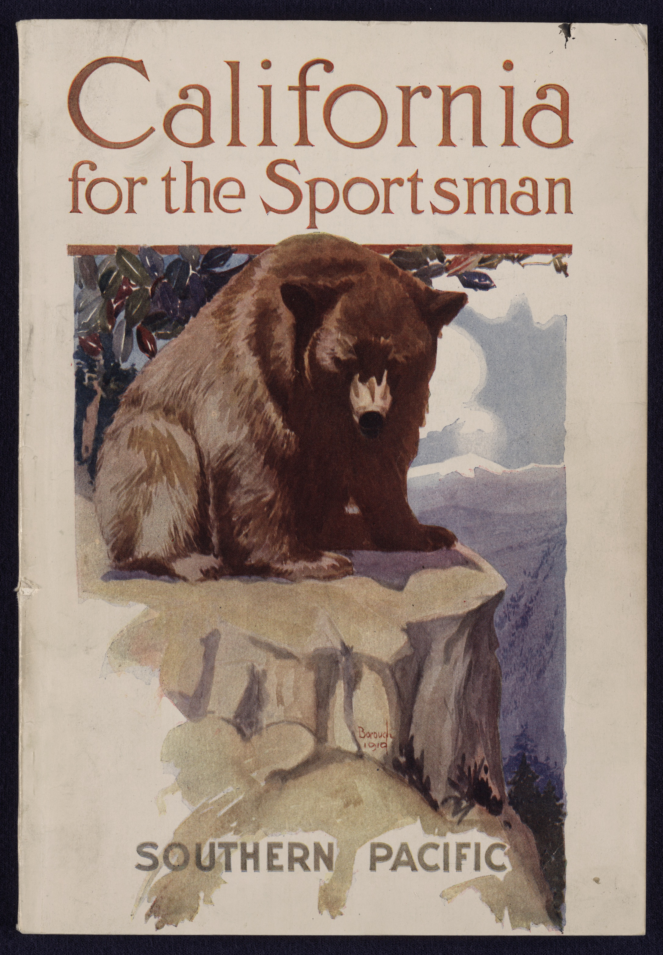 """Figure 1: """"California for the Sportsman""""… Compiled by A.M. Cumming & Allan Dunn (San Francisco: Southern Pacific Company, 1911). Source: U.S. Library of Congress."""